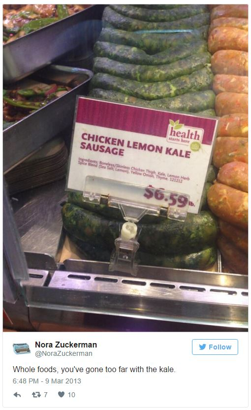 Kale Sausage Whole Foods Know Your Meme