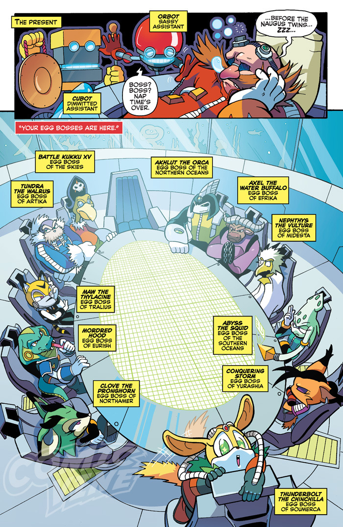 the round er i mean da egg table archie sonic comics know