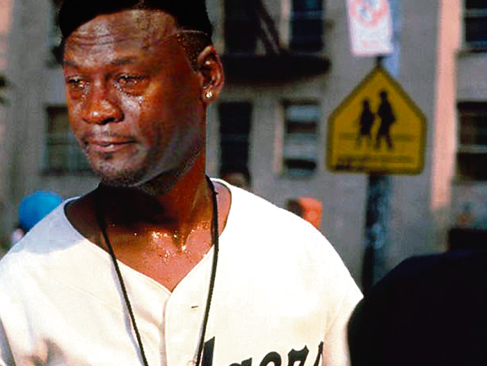 vendedor incluir página  Spike Lee Mookie Do The Right Thing | Crying Michael Jordan | Know Your Meme