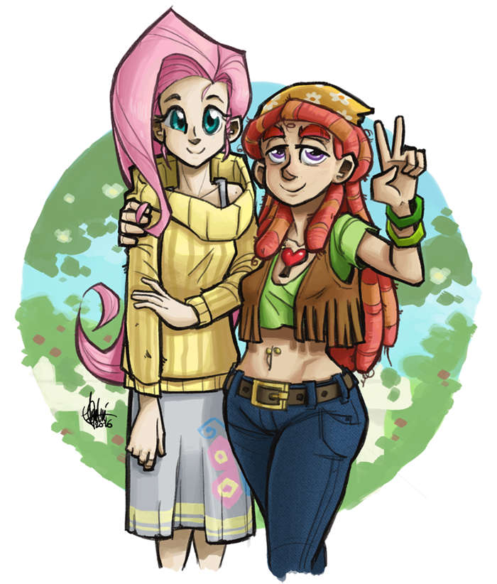 Fluttershy And Tree Hugger By Theartrix My Little Pony Friendship