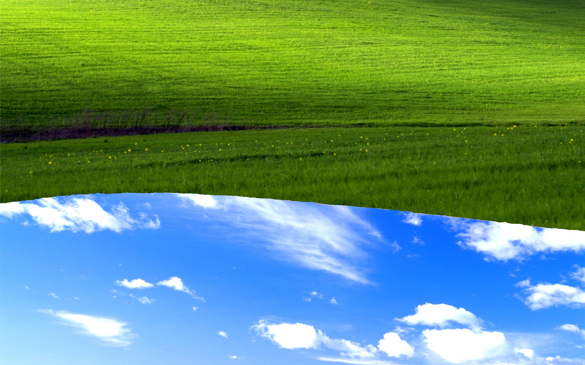 windows xp bliss reversed | windows xp bliss wallpaper | know your meme