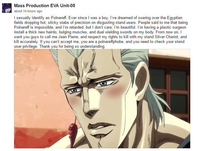Big Thank You To The Person Who Actually Wrote This Jojos Bizarre