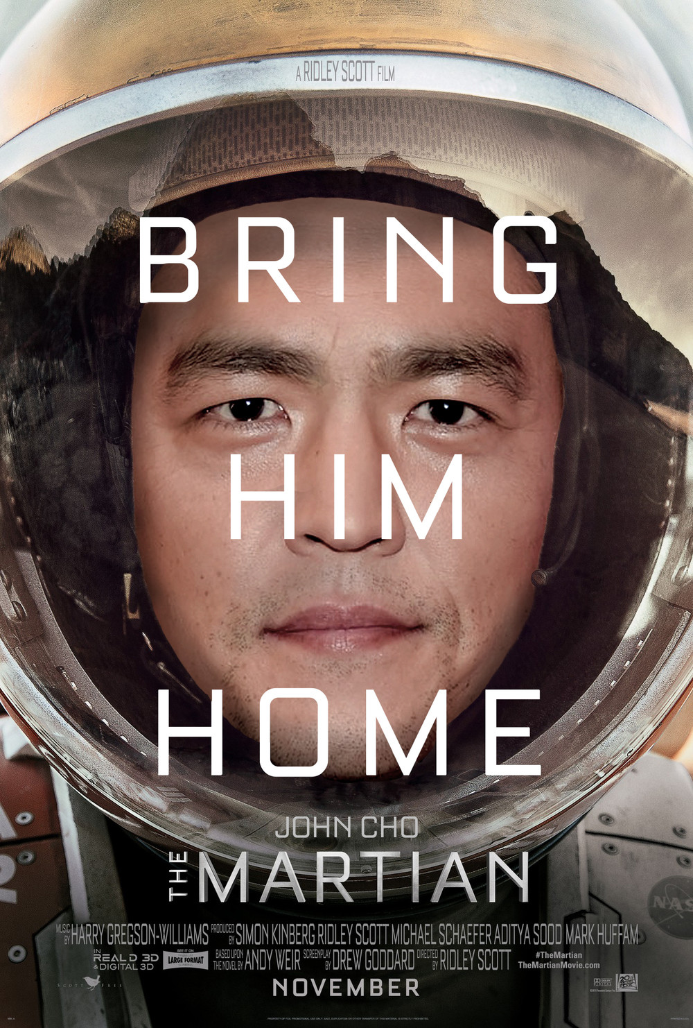 The Martian Poster Starringjohncho Know Your Meme