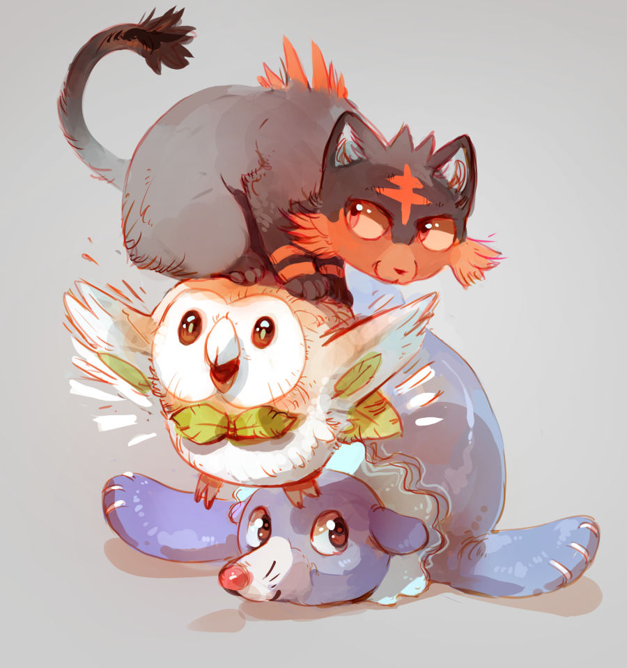Starter Trio By Minna Sundberg Pokémon Sun And Moon Know
