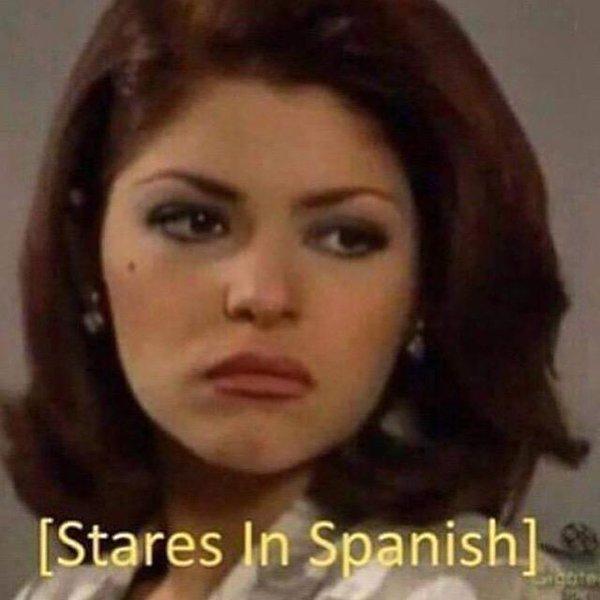 stares in spanish soraya montenegro know your meme
