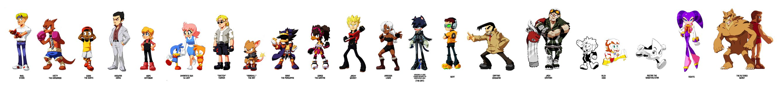 SEGA Characters as Sonic Characters | Sonic the Hedgehog