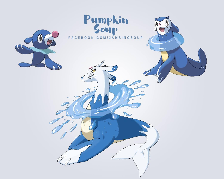Fakemon Fan Evolution Line Popplio
