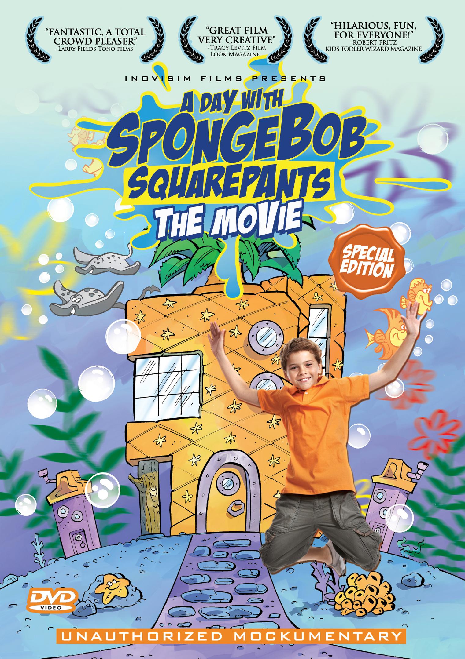 A day with spongebob squarepants the movie box art