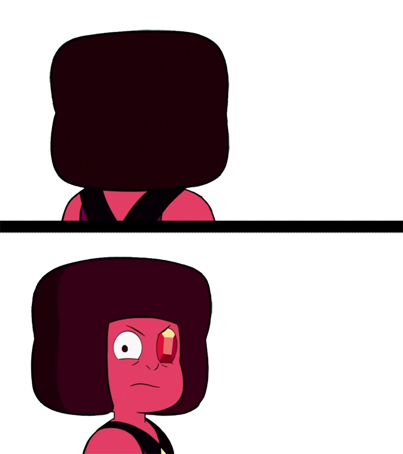 punished ruby reaction template steven universe know your meme