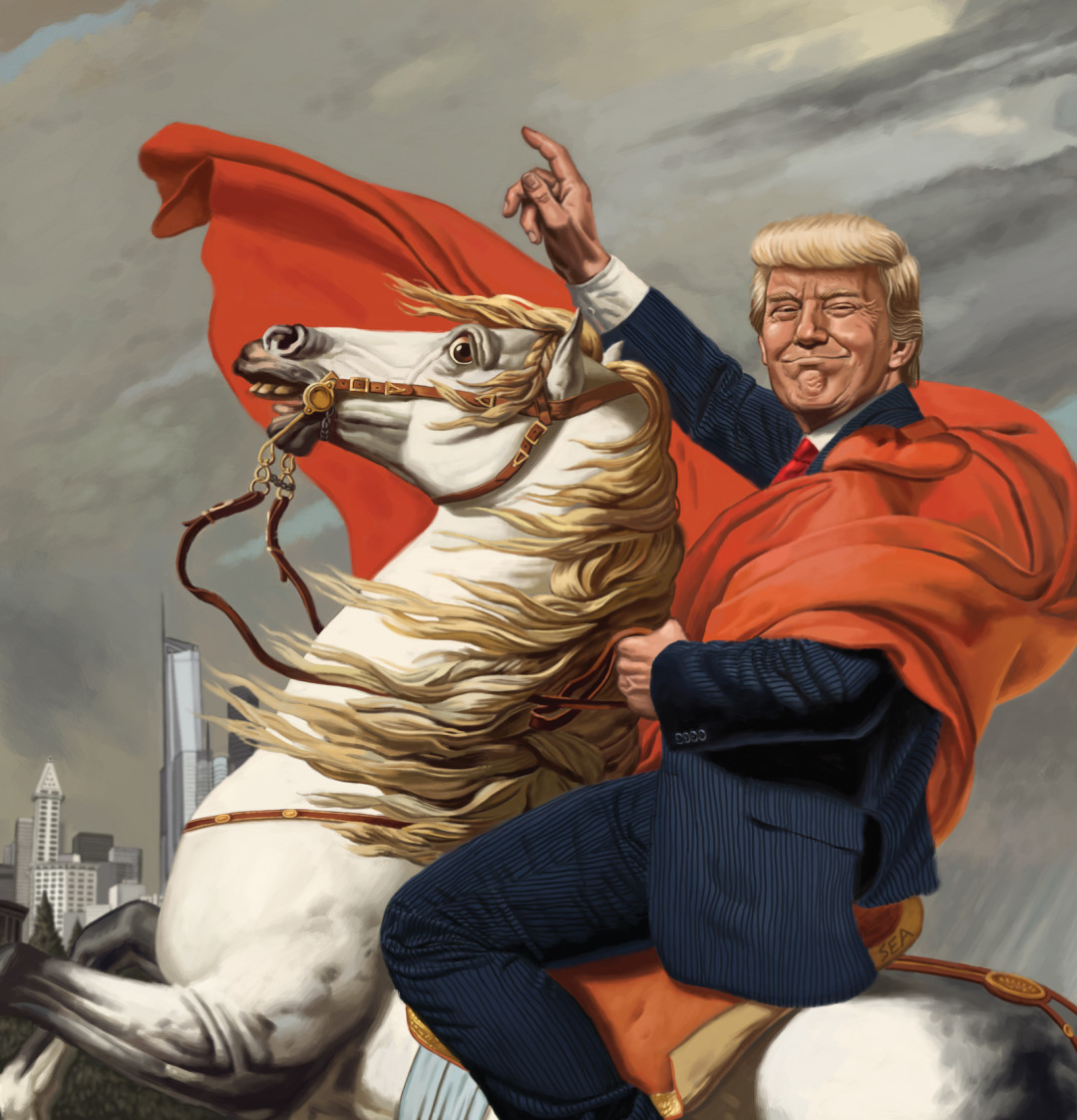 Image result for trump and horse