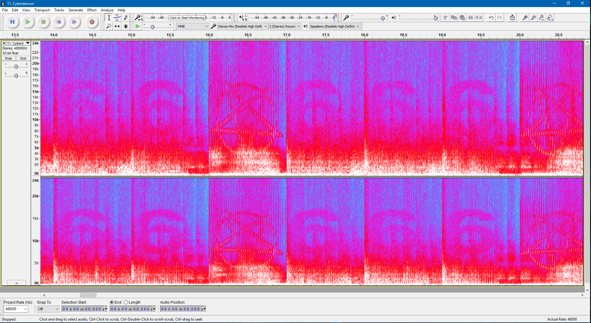 The numbers 666 appear in DOOM's soundtrack in a spectrogram