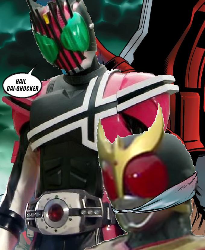 All Riders vs  Dai-Shocker in a nutshell   Captain Hydra