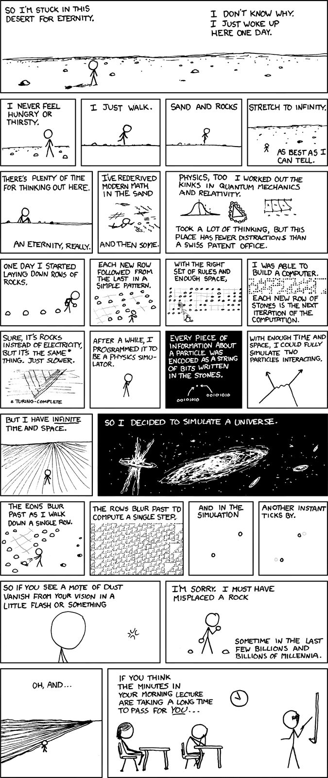Xkcd A Bunch Of Rocks Simulated Reality Know Your Meme