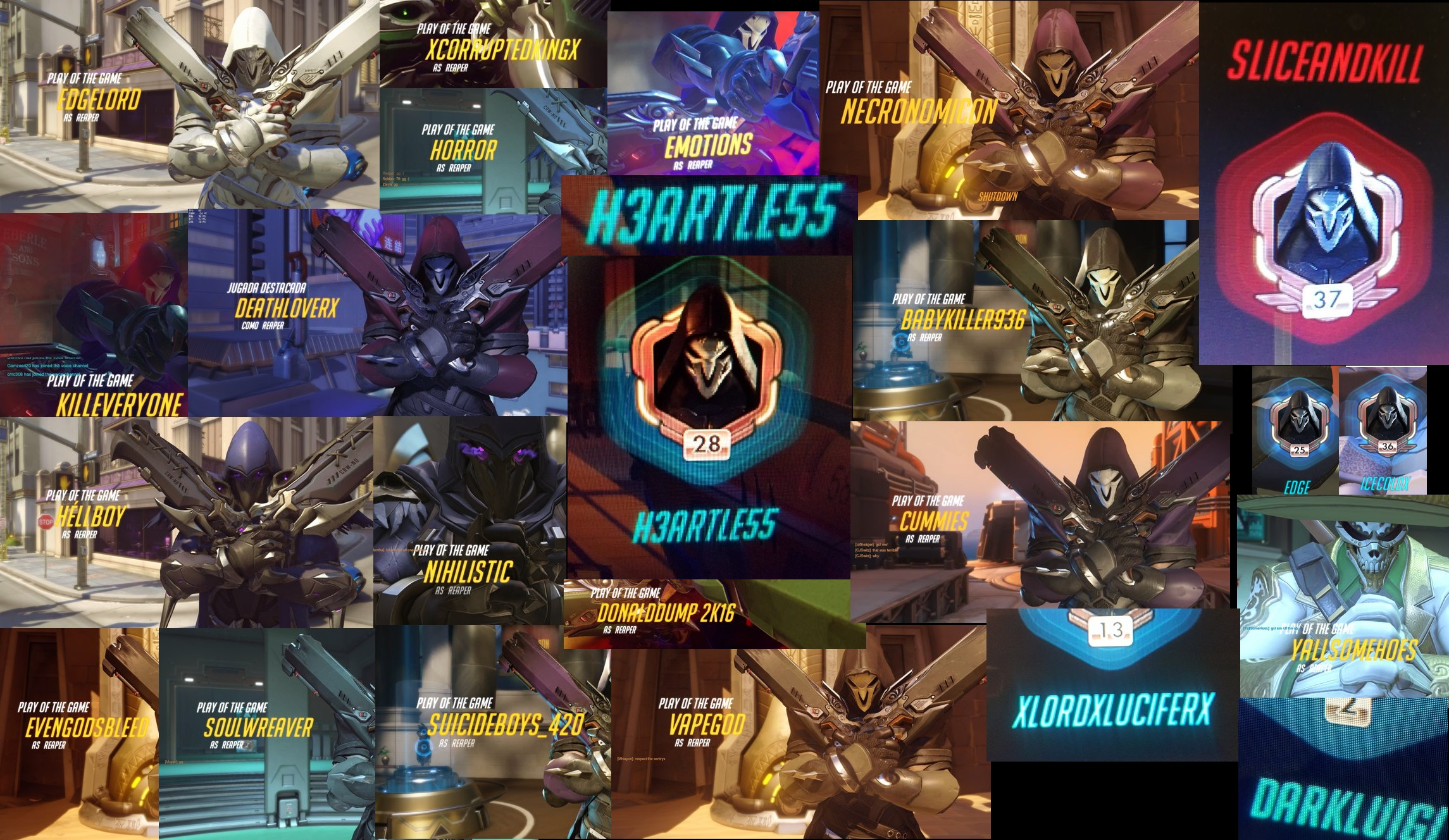 reaper players overwatch know your meme
