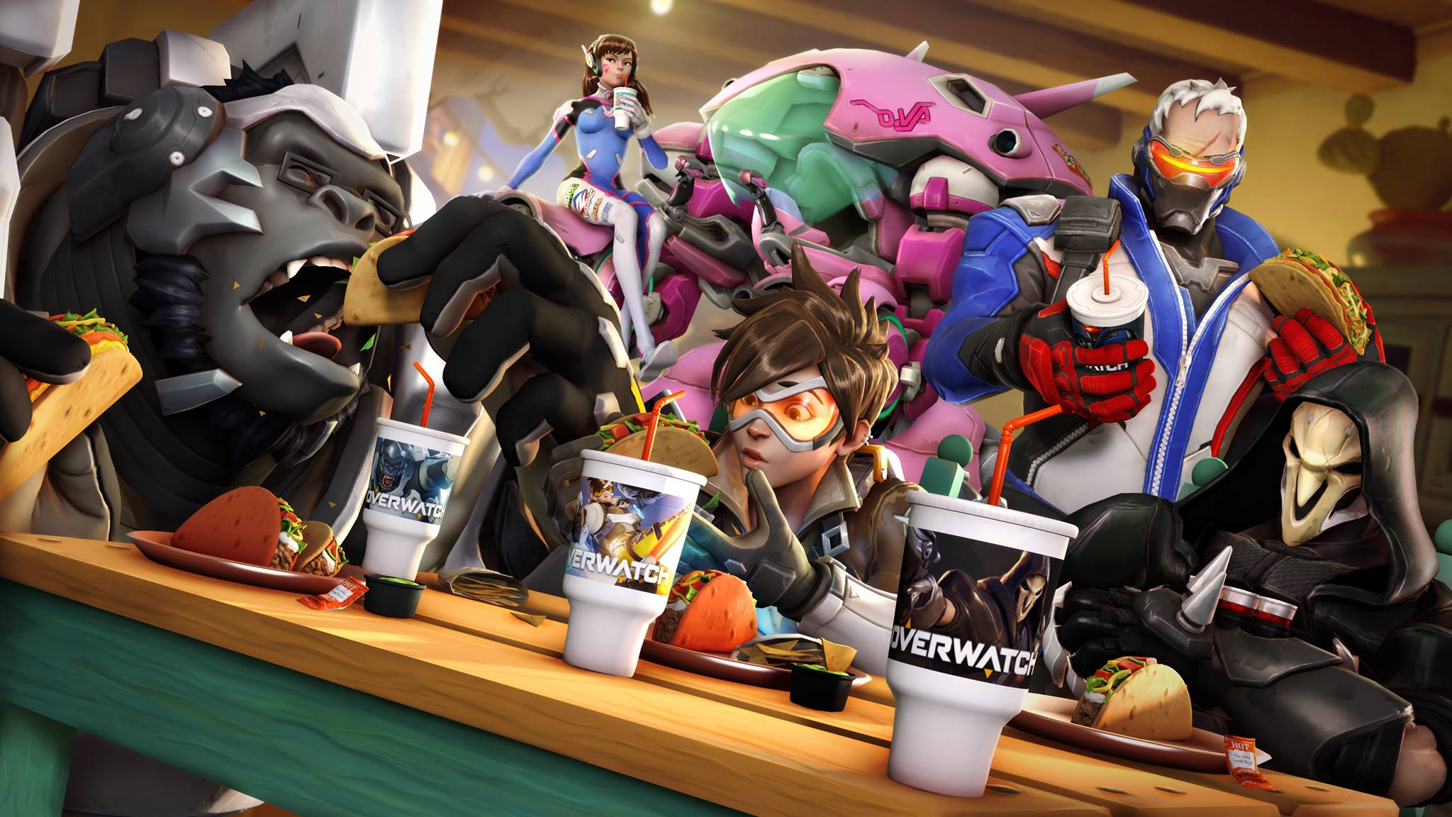 overwatch characters eating taco bell overwatch know your meme