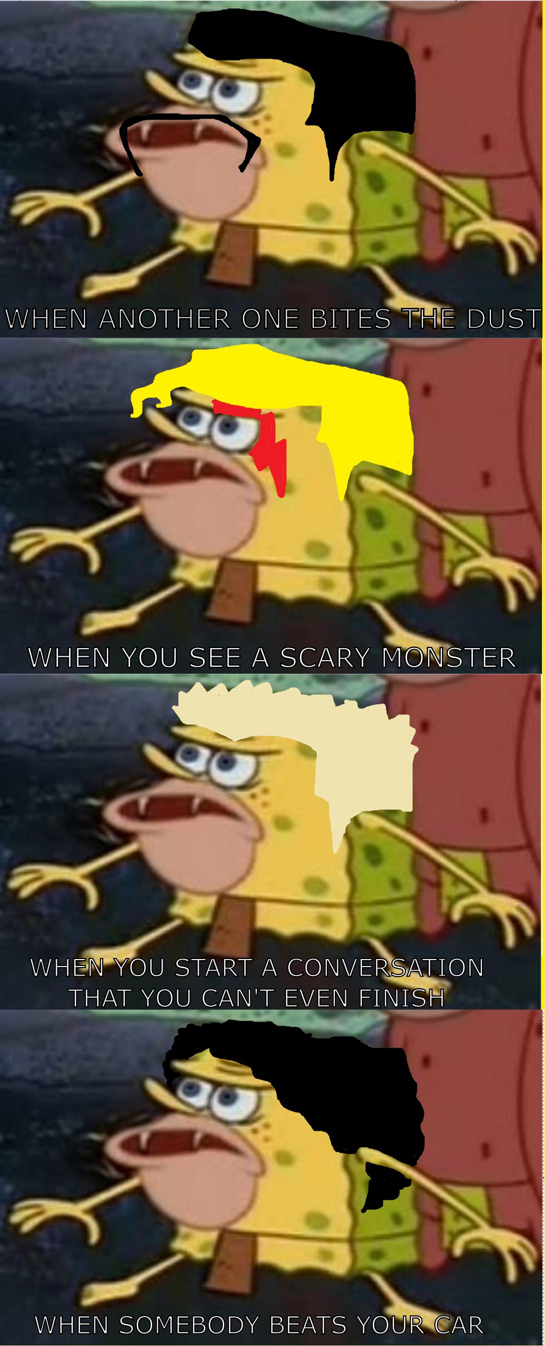 Spongegar primitive sponge caveman spongebob when another one bites the dust