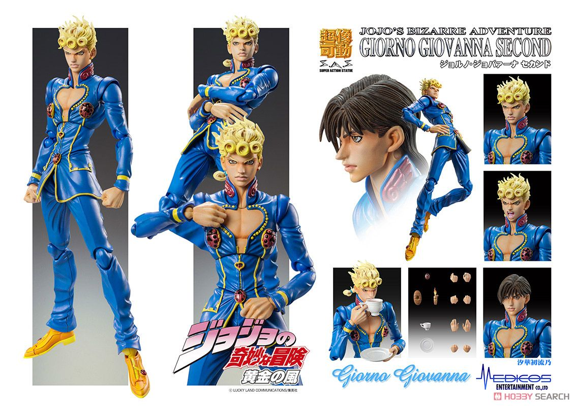 Giorno Giovanna Second Hirohiko Araki Specify Color Pvc Figure