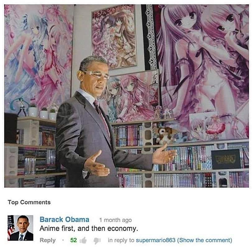 Anime First And Then Economy Barack Obama Know Your Meme