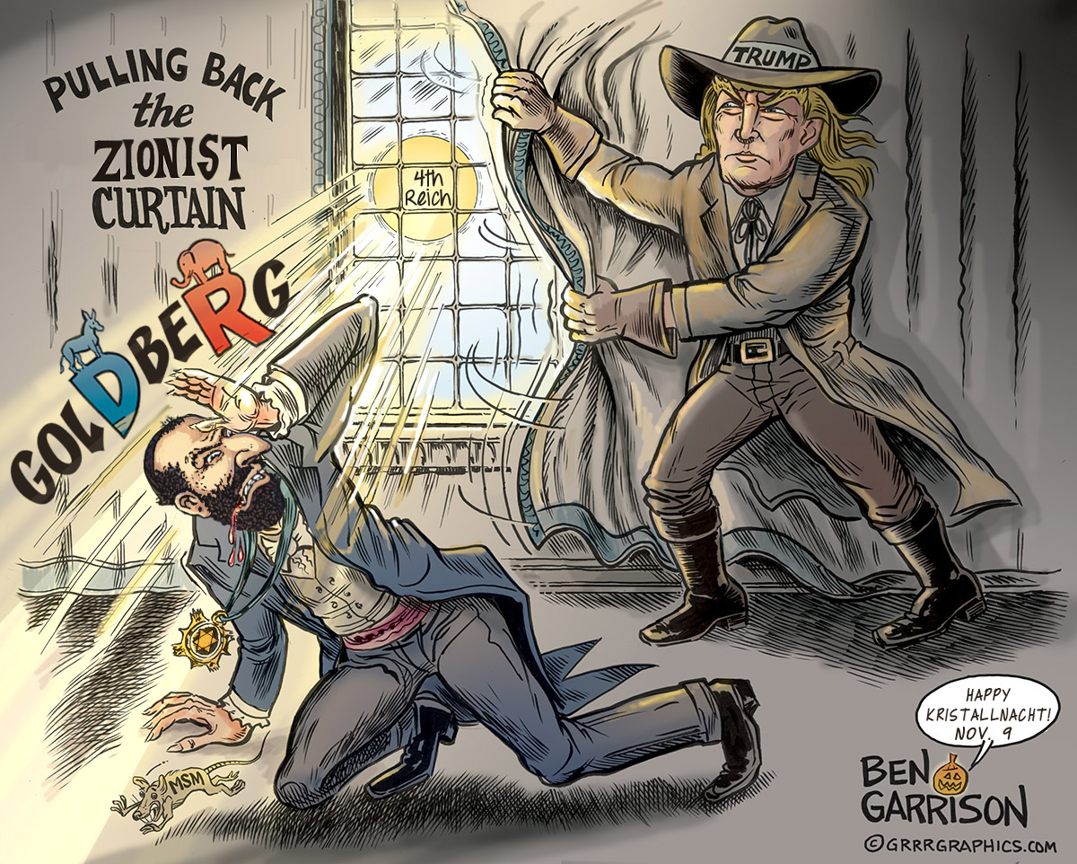 pulling back the zionist curtain ben garrison know your meme