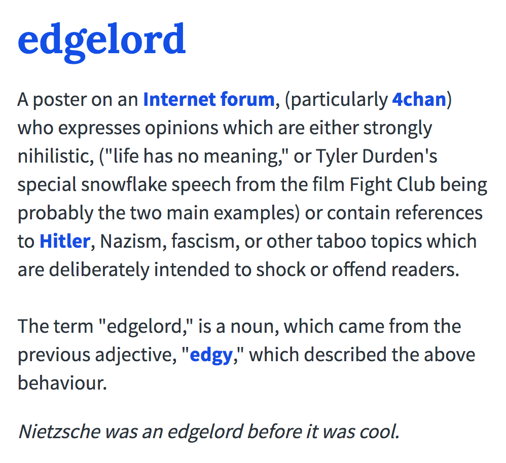 Edgelord | Edgy | Know Your Meme