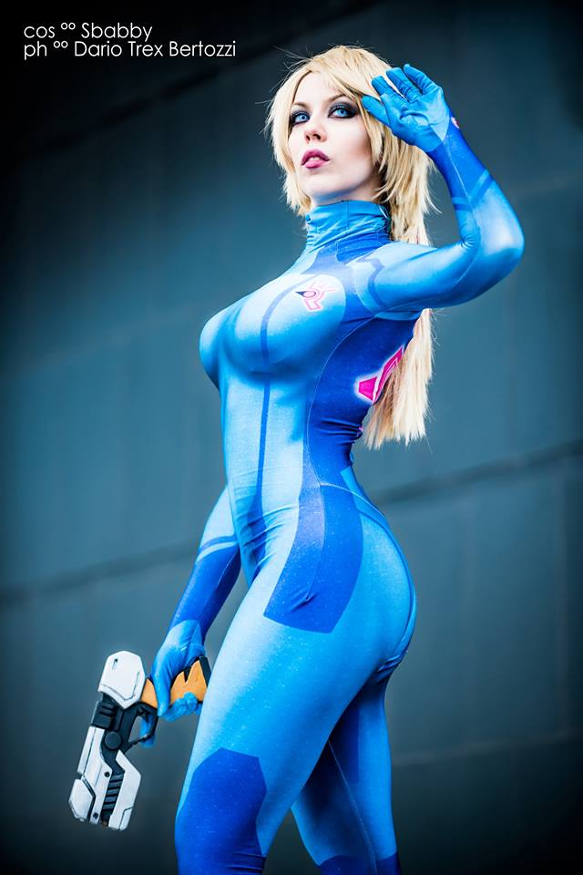 Samus aran zero suit cosplay was and