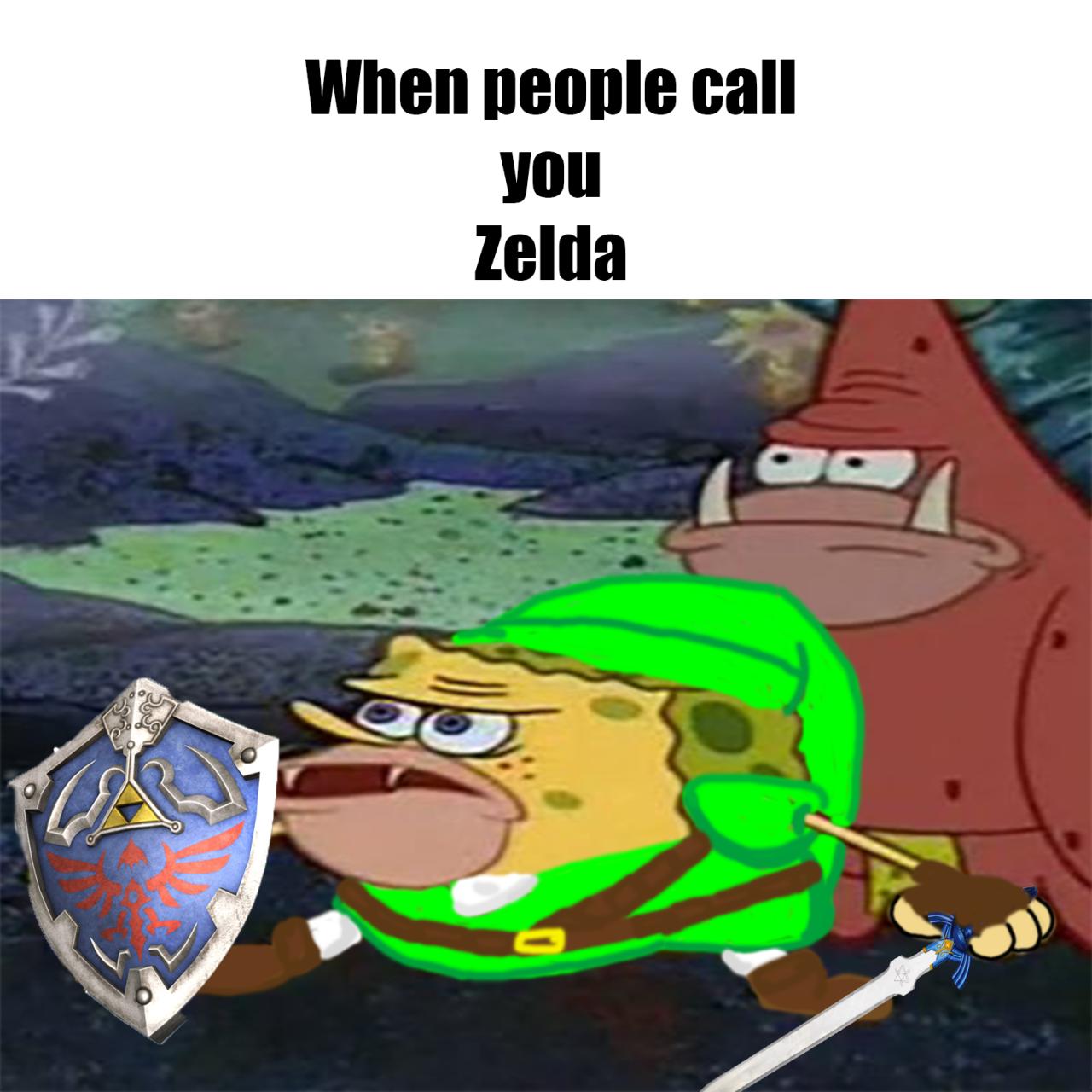 Spongegar primitive sponge caveman spongebob when people call you zelda