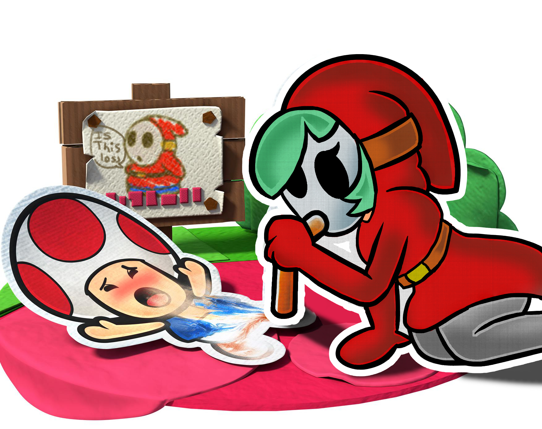 Promo Art But With A Shygal Instead Paper Mario Know Your Meme