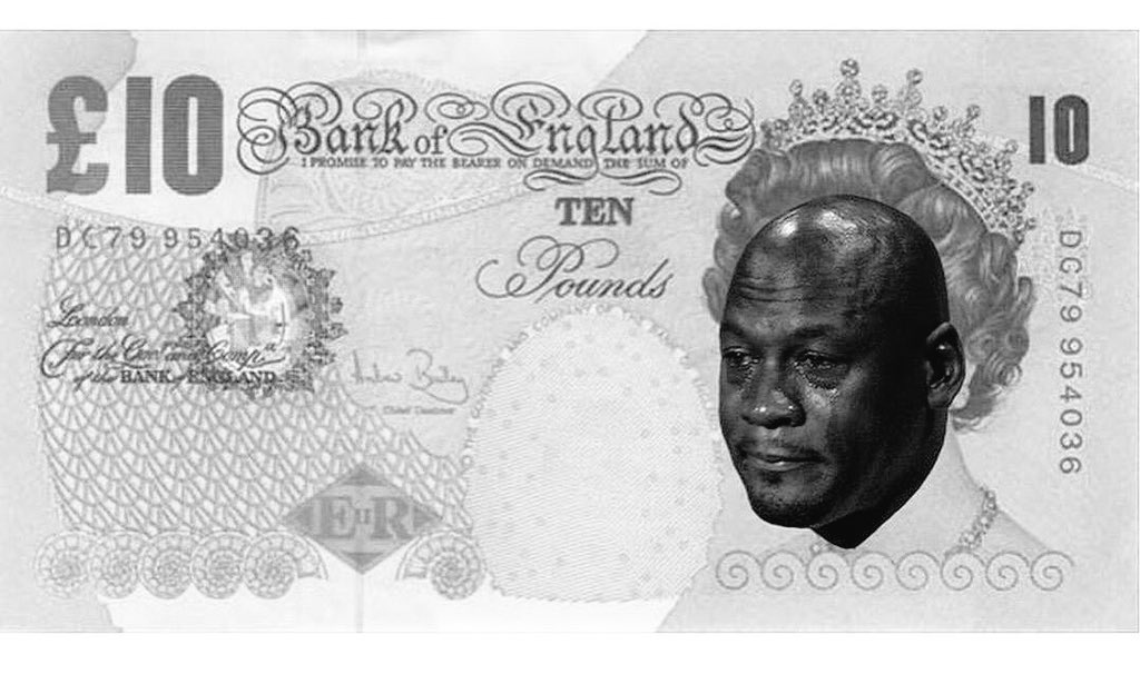 Arx Of United Kingdom Banknote Currency Black And White Money Text Nose Forehead Cash Paper