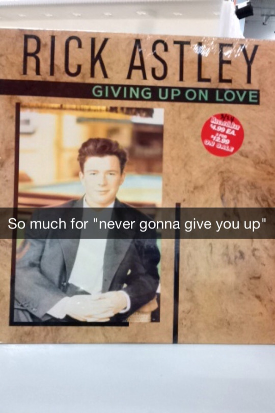 Giving Up On Love Rickroll Know Your Meme