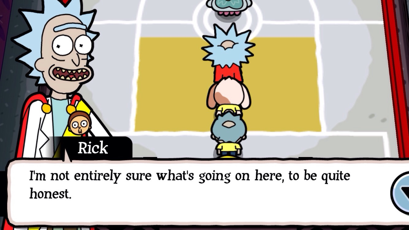 his face is unusually happy for that quote though rick and morty