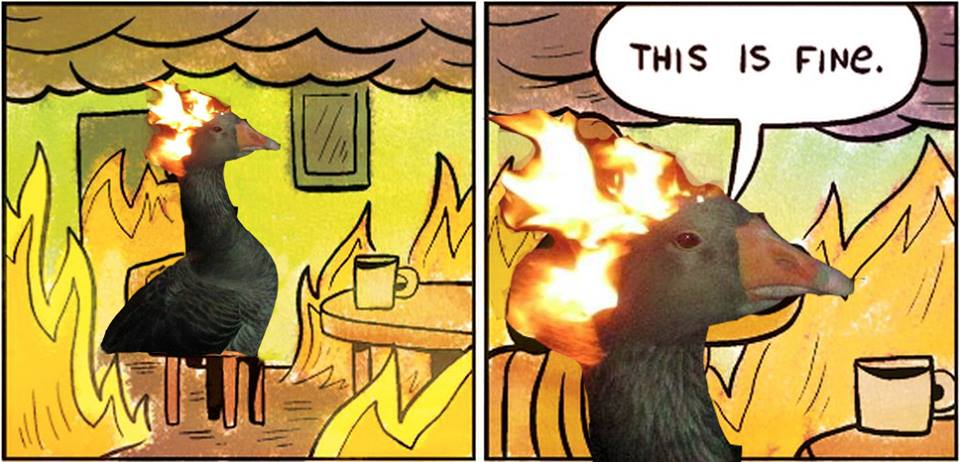 Game Of Thrones Khaleesi Daenerys Sitting In A Fire This Is Fine