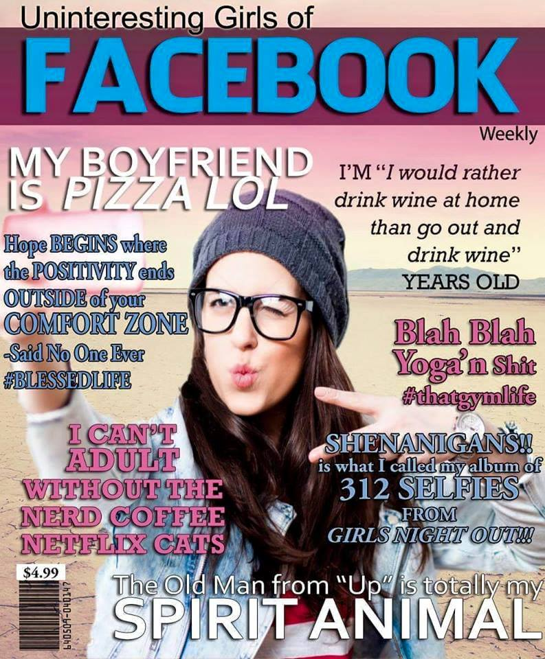 Facebook if it was in magazines' form | Facebook | Know Your Meme