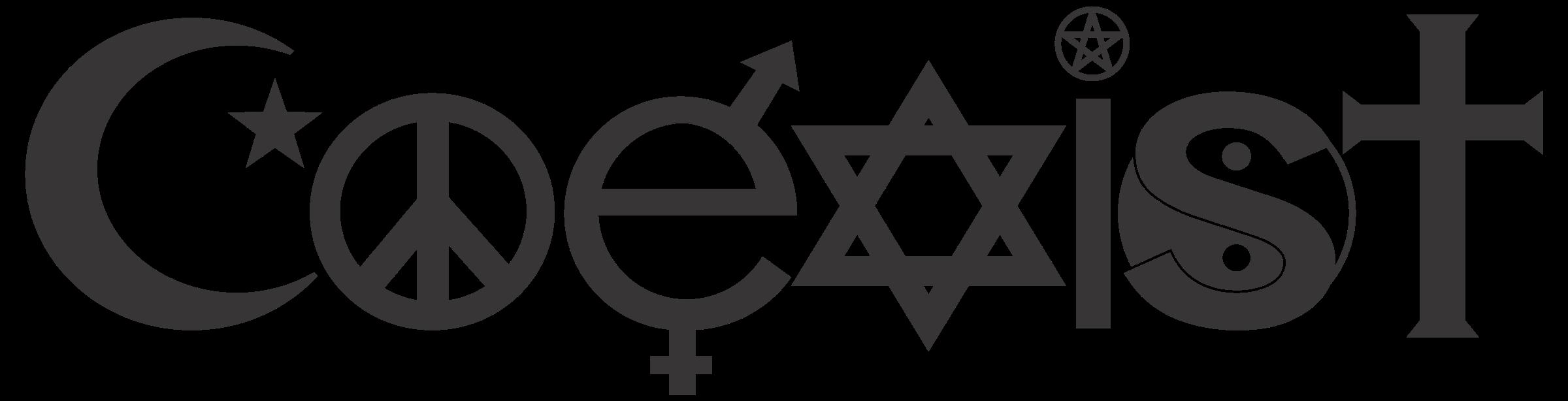 Coeist text font logo black and white