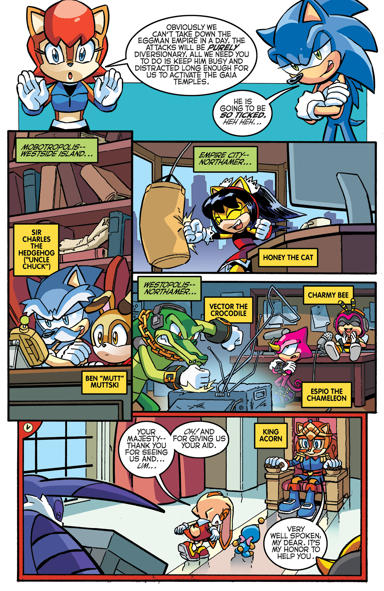 Rallying The Troops Part 2 Archie Sonic Comics Know Your Meme