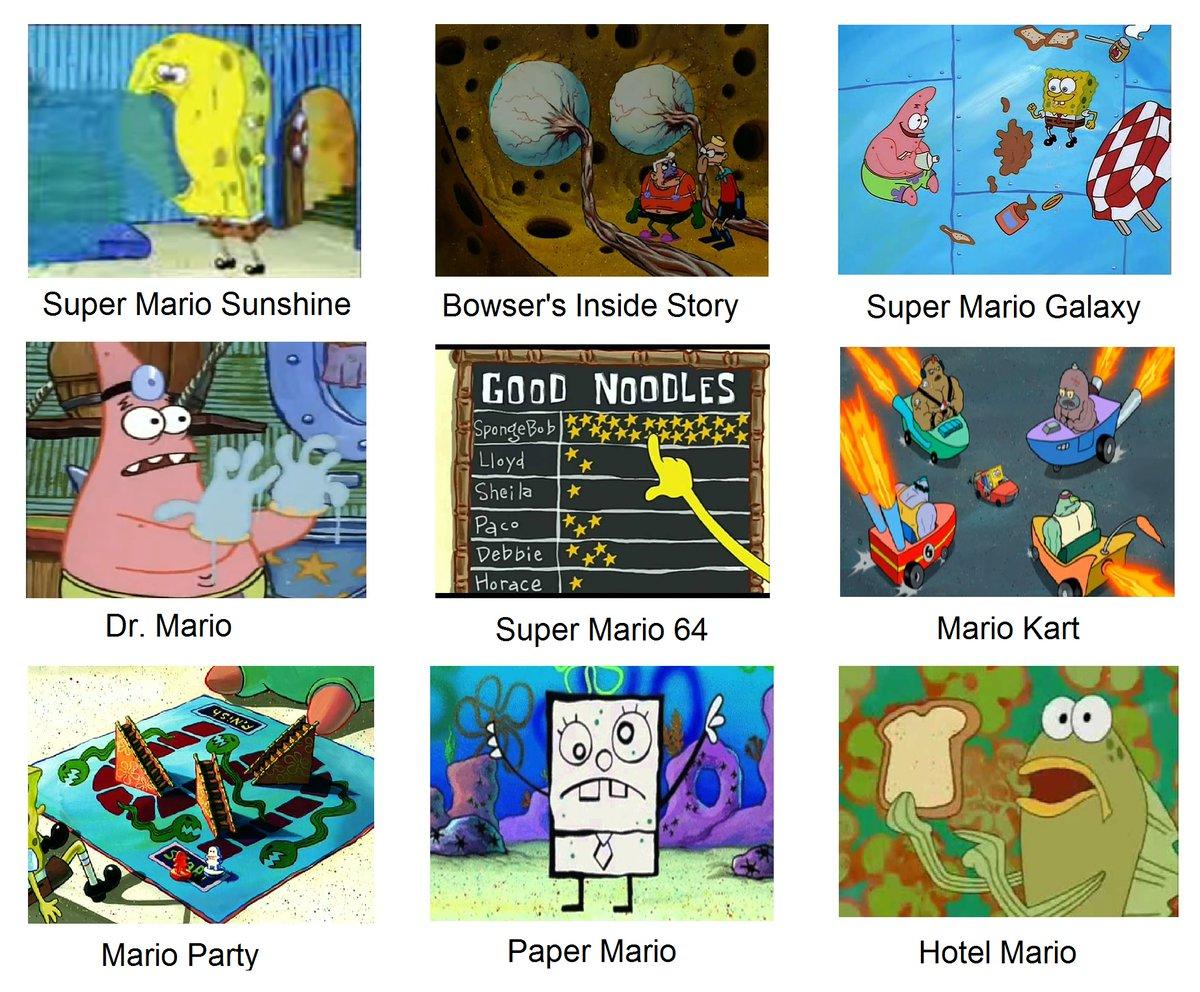 Spongebob As Mario Games Spongebob Comparison Charts Know Your Meme