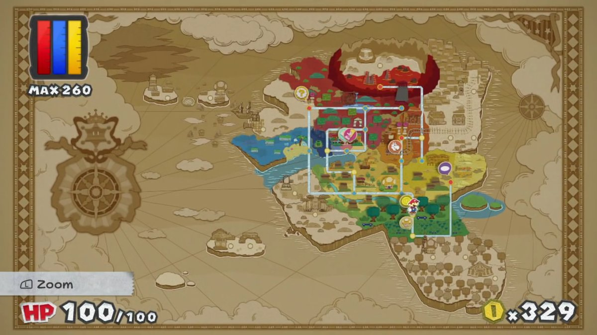 The World Map Of Color Splash Paper Mario Know Your Meme