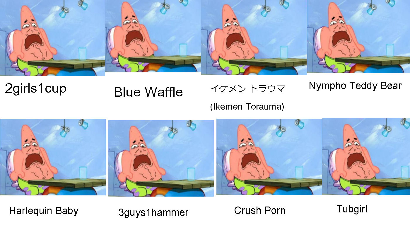 Patricks Chart Of Shock Sites, Videos And Pictures  Spongebob Comparison Charts  Know Your Meme-1821
