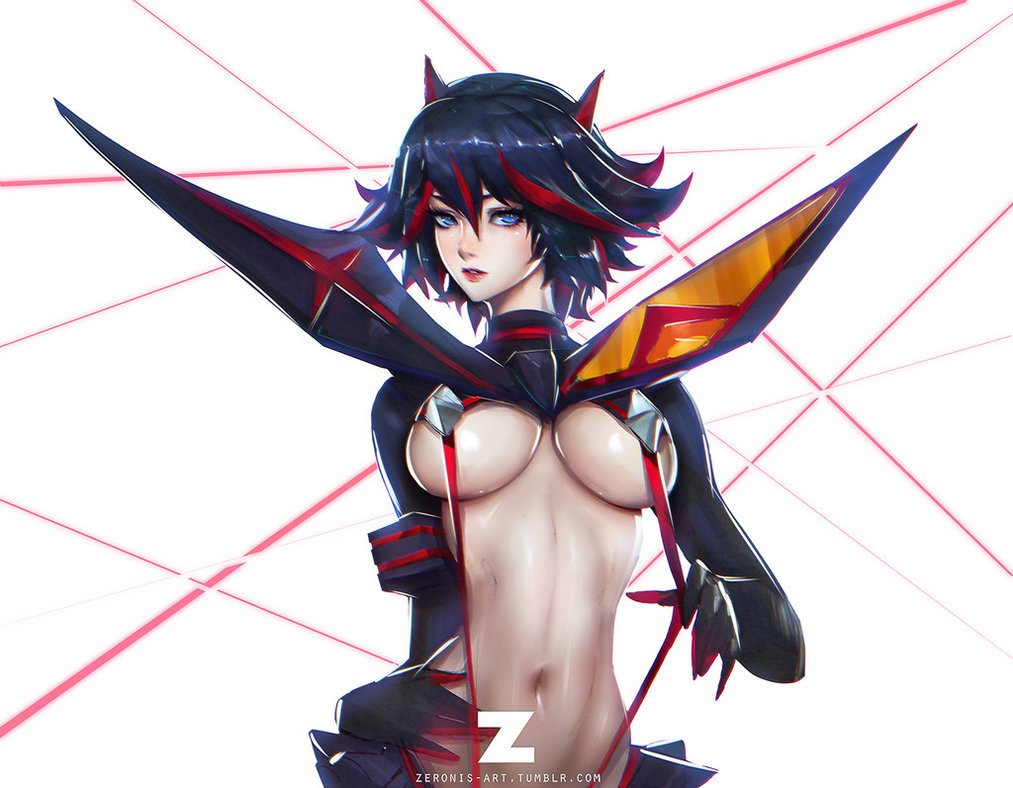 Ryuko Matoi Sketch By Zeronis Kill La Kill Know Your Meme