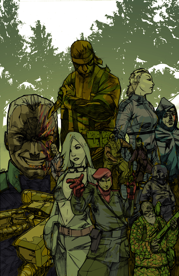 Snake Eater Pin Up By Biz20 Metal Gear Solid 3 Snake