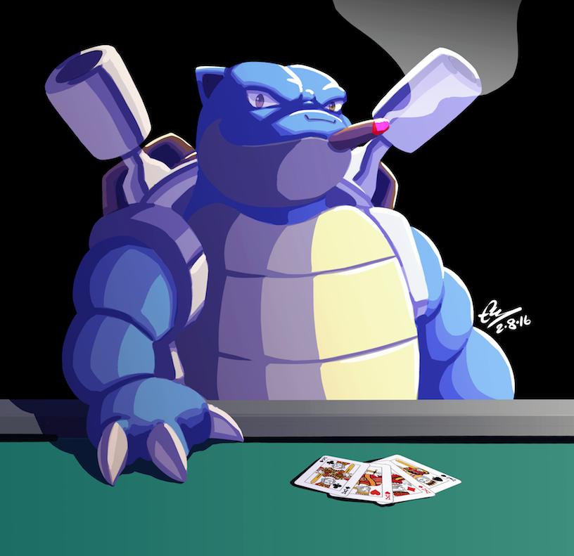 Blastoise Playing Poker Pokemon Know Your Meme