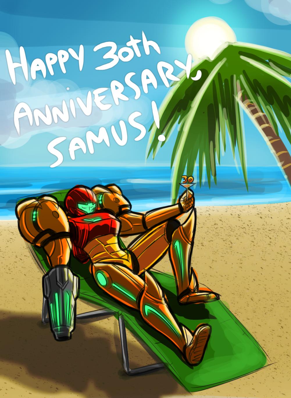 happy 30th anniversary samus metroid know your meme