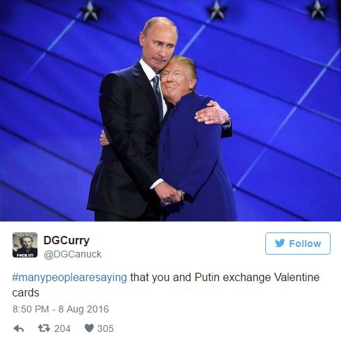 Putin Trump Valentine S Day Cards Tweet By Dgcanuck