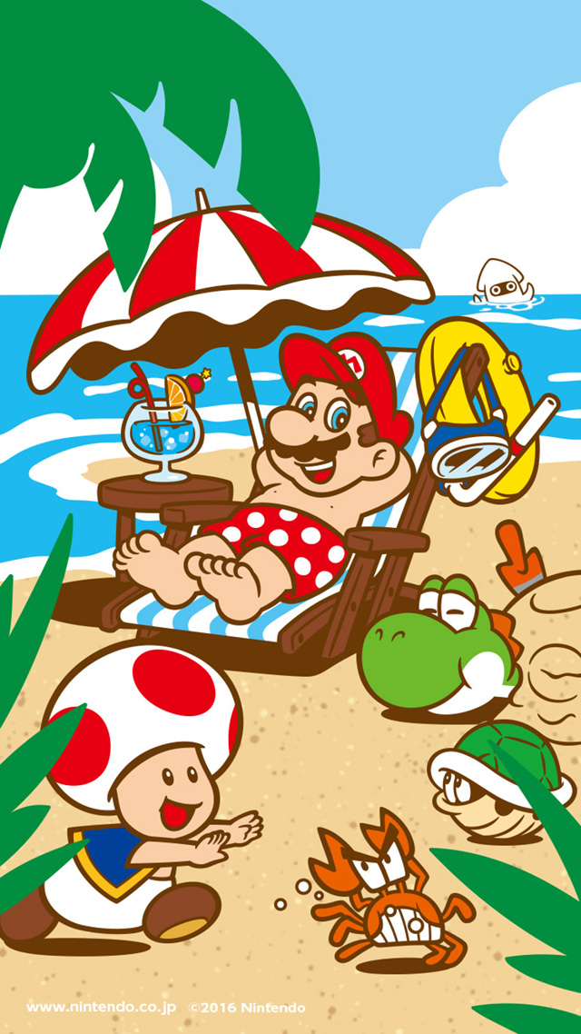 Summer Mario Wallpaper Super Mario Know Your Meme