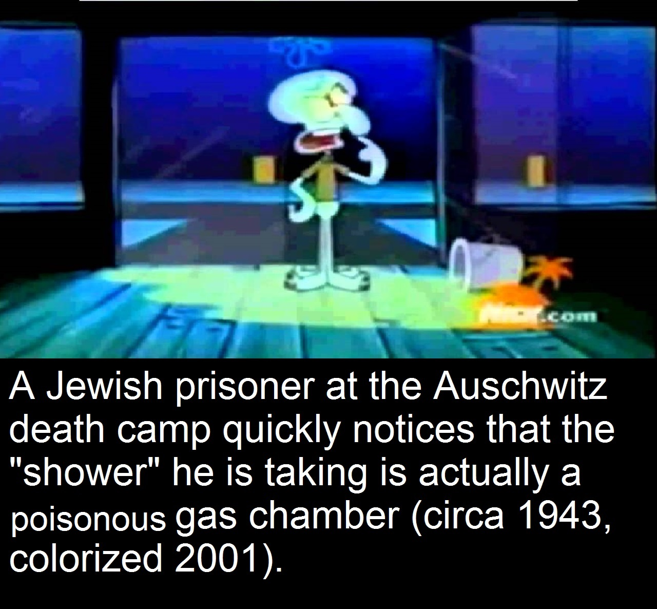 A jewish prisoner at the auschwitz death camp quickly notices that the shower he