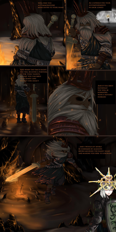 Gwyn giving the talk to Gwyndolin   Dark Souls   Know Your ...