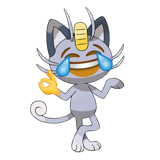 Alolan Meowth with Tears of Joy | Crying Laughing Emoji 😂 | Know
