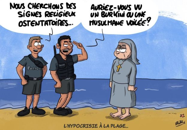 hypocrisy at the beach french burkini ban know your meme