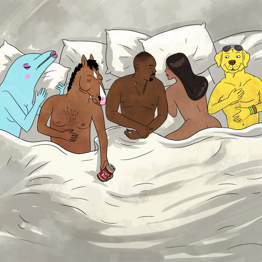 bojack is famous kanye west famous know your meme