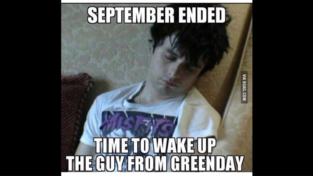 september ended time to wake up the guy from greenday billie joe armstrong human hair color