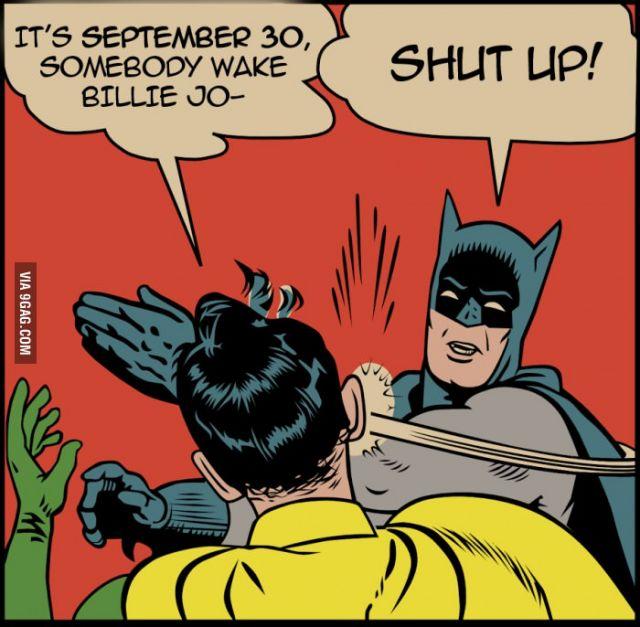 it s september 30 somebody wake billie jo robin superman nightwing cartoon fictional character superhero